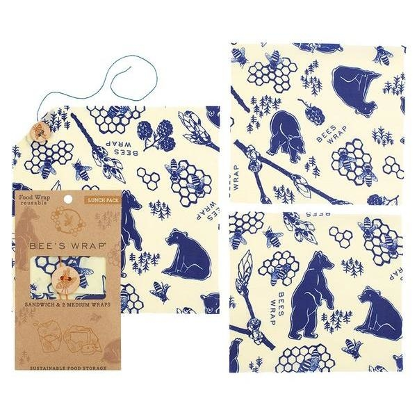 BeesWrap LunchPack Bears and Bees print