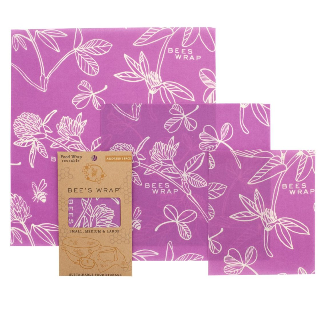 Bees Wrap Assorted 3 pack purple