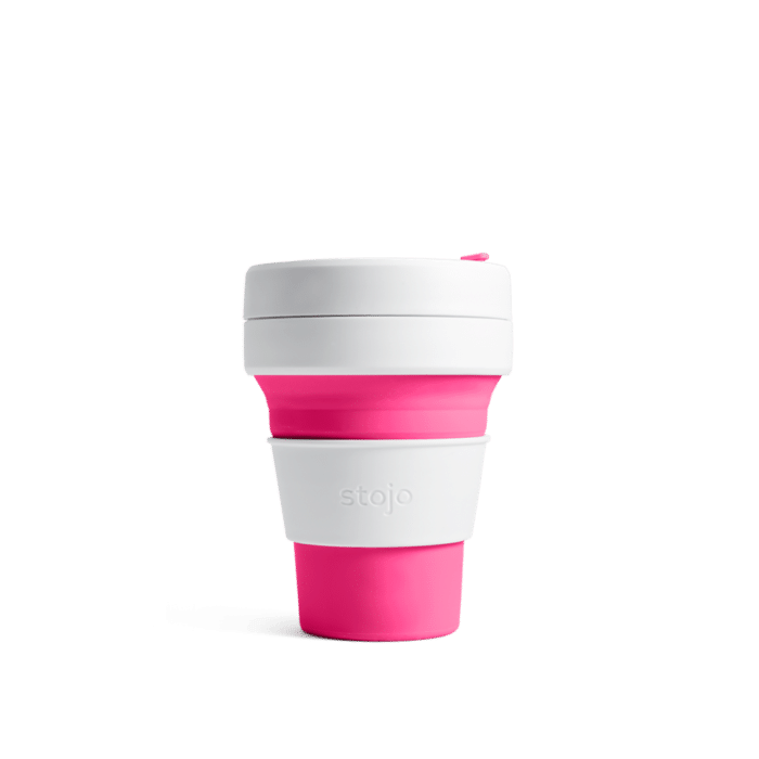 Stojo pocket cup pink expanded