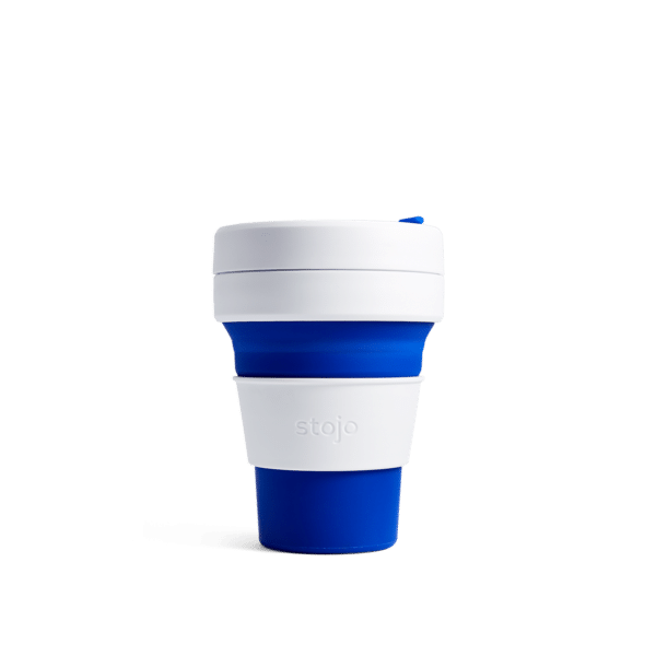 Stojo pocket cup blue expanded