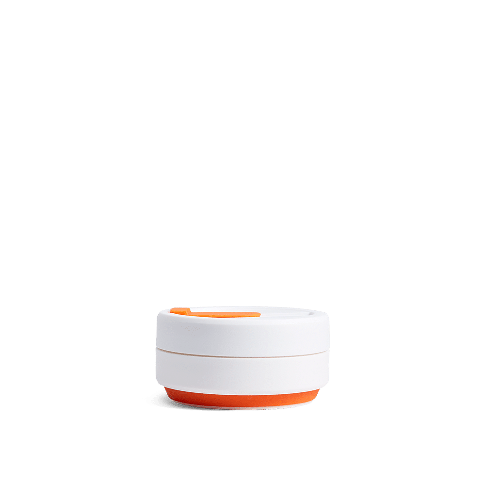 Stojo pocket cup orange collapsed