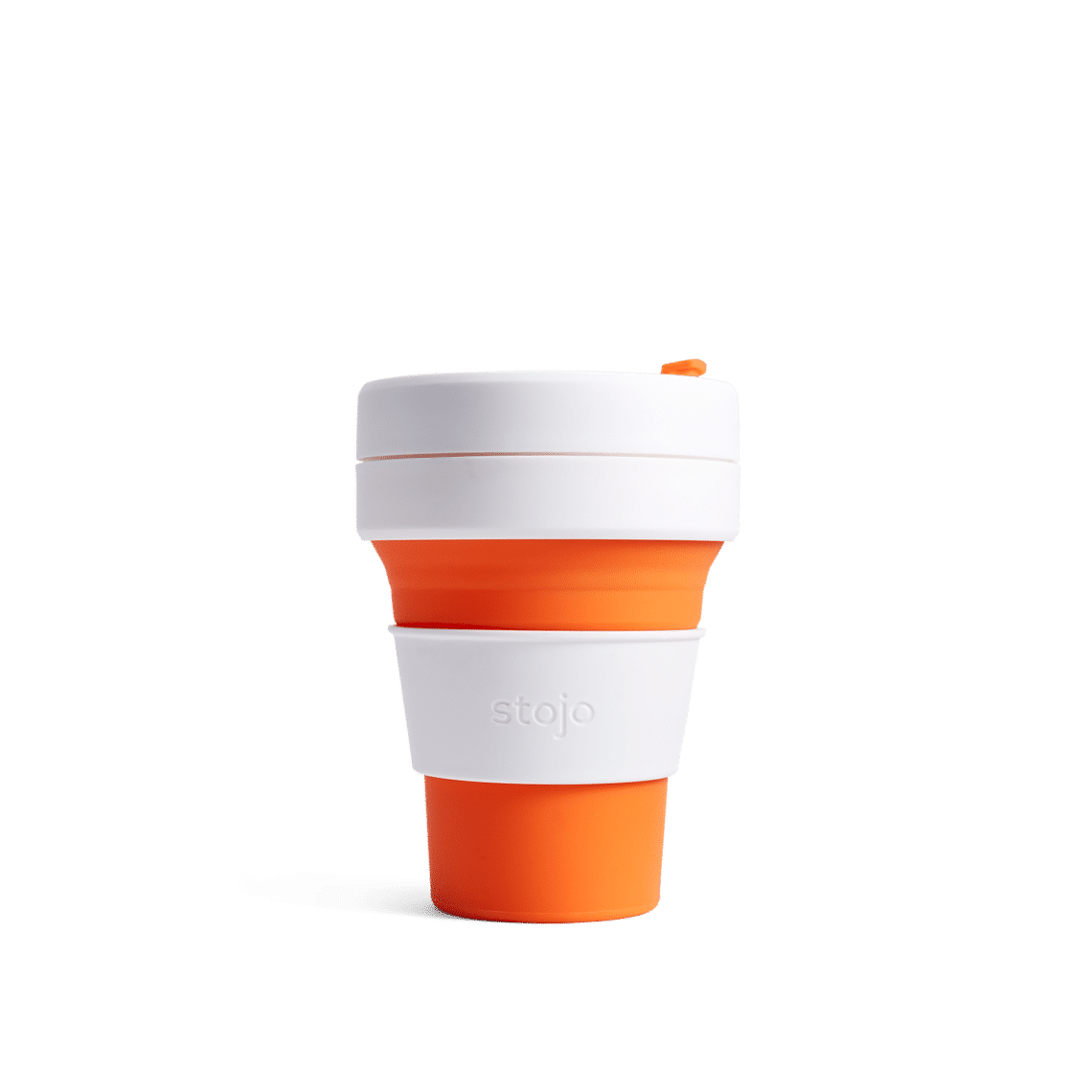 Stojo pocket cup orange expanded