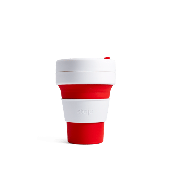 Stojo pocket cup red expanded