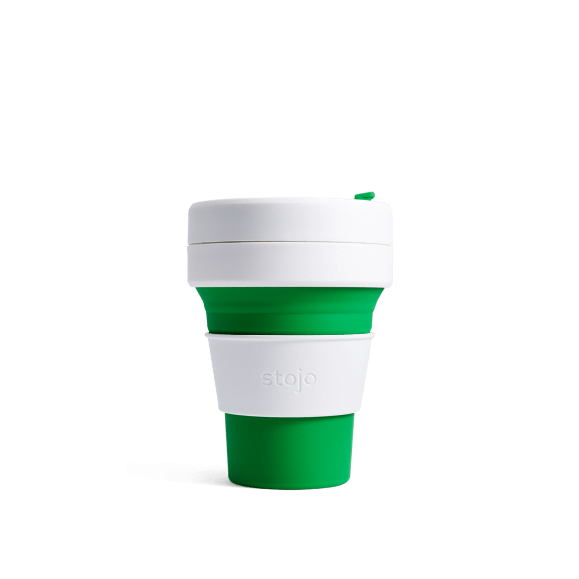Stojo pocket cup green expanded